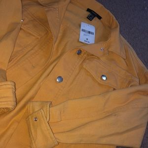 Yellow jean jacket from forever 21 !